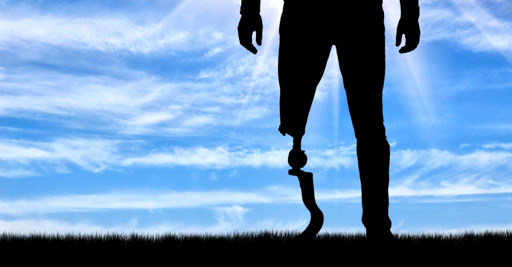 walk with a prosthetic device